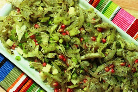 Simplesmente Delícia » Salada de Funcho com Sementes de Romã e Sumac