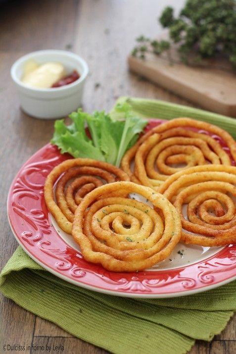 Patate fritte a spirale, golose e scenografiche Dulcisss in forno by Leyla