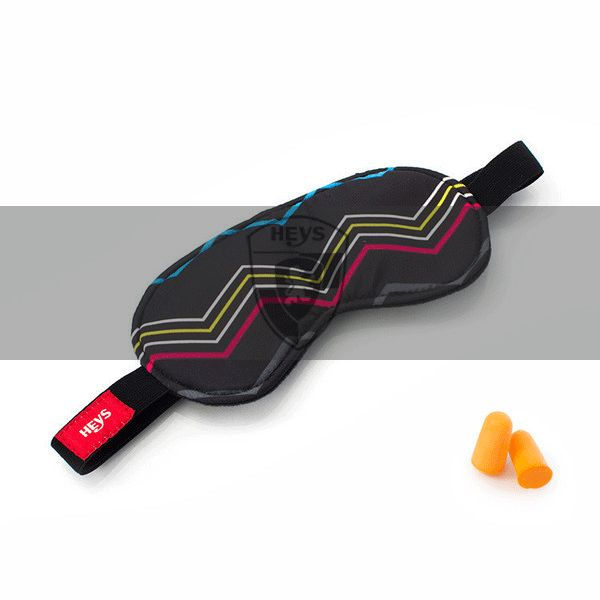 CMYK Color Zig Zag Eye Shade  amp  Ear Plug Set
