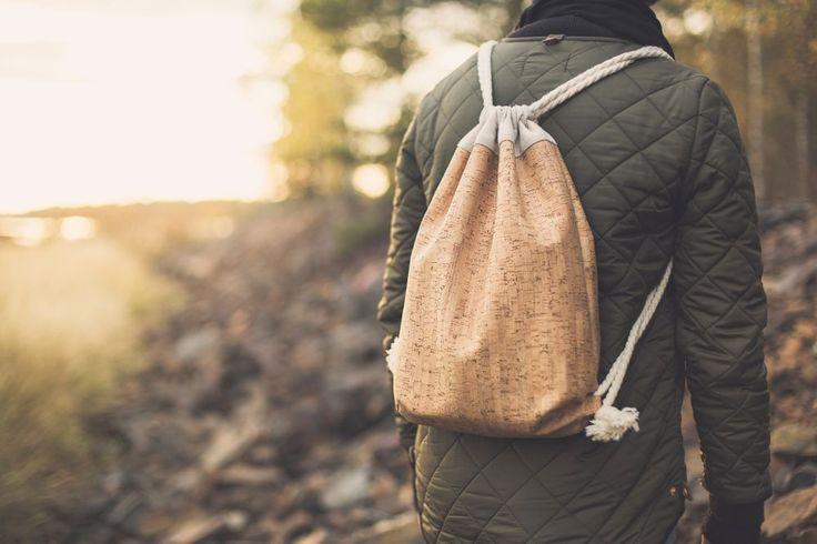 Aarni cork backpack by Katriina Nuutinen, Finland