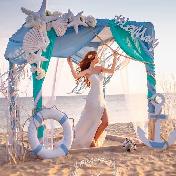 Originaux décorations de mariage sur le thème marin