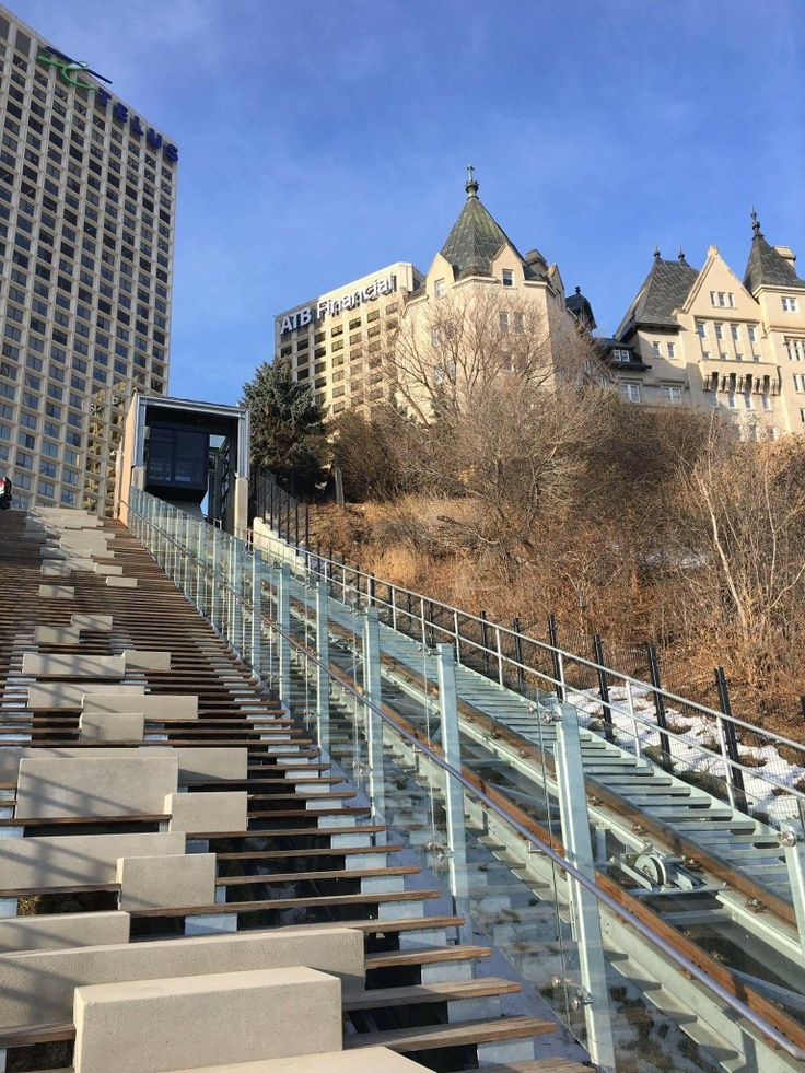 The 100 street Funicular is now open in downtown Edmonton!