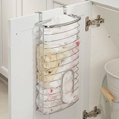 Parte superior Home Solutions® cromo encima de la puerta de plástico dispensador de soporte de almacenamiento bolsa de transporte bolsas de reciclaje