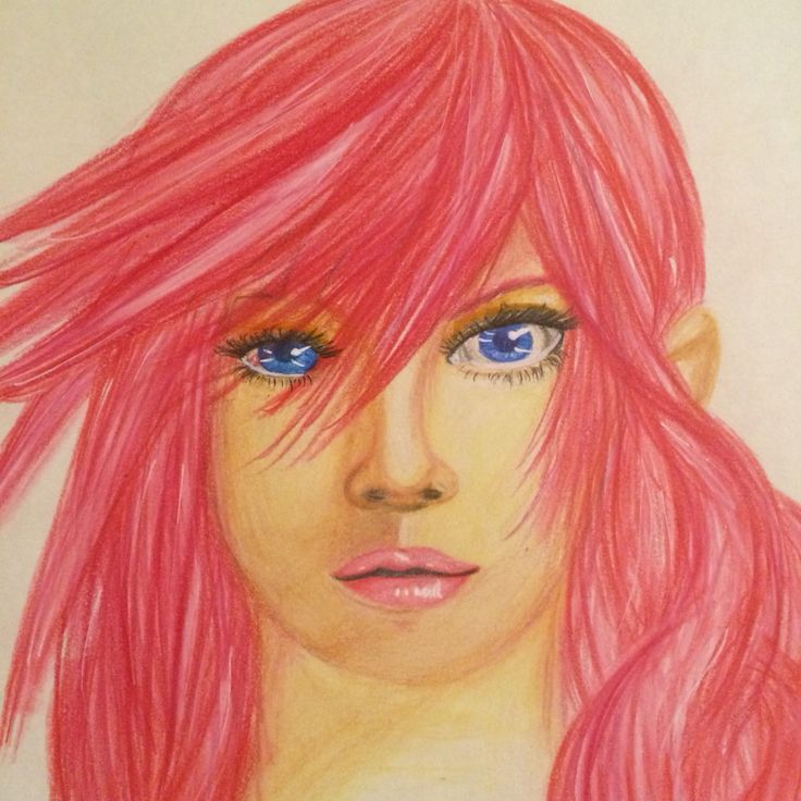 My first portrait with colored pencils