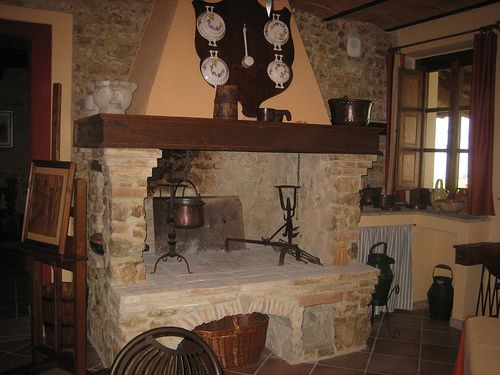 i will have a cooking fireplace in my dream kitchen. it makes everything taste so good, yummy.