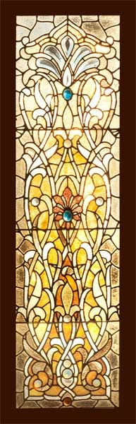 Victorian combination glass (Combination Glass refers to windows that combine elements of stained glass, beveled glass, and jewels) - Circa: 1895