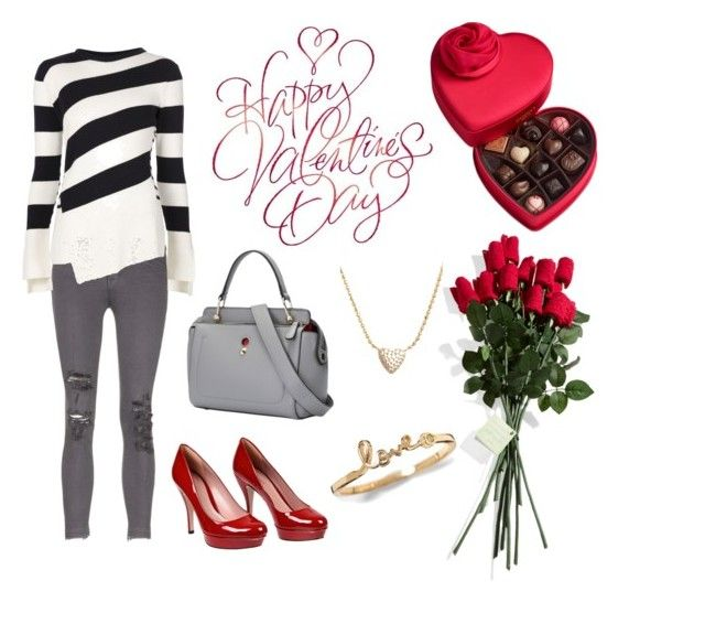 My Valentine <3 by rosehage on Polyvore featuring polyvore, fashion, style, Alexander McQueen, Hanky Panky, J Brand, Gucci, Nadri, Godiva, women's clothing, women's fashion, women, female, woman, misses and juniors