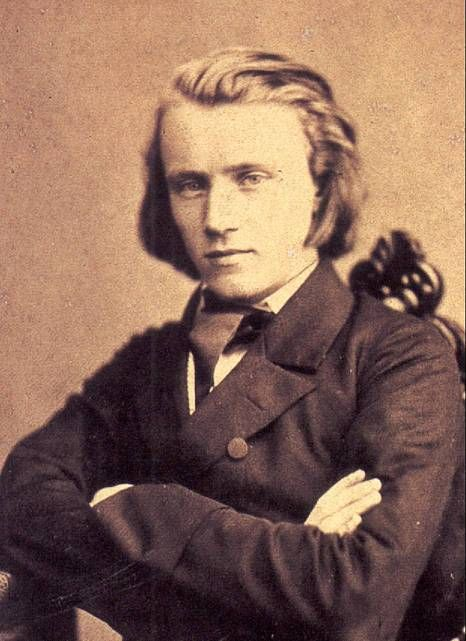 Johannes Brahms, circa 1853, age 20. Liszt had nothing on this fellow.