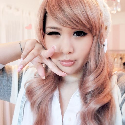 Peachy Pink Champagne Hair Color AMAZING  Fall Hair