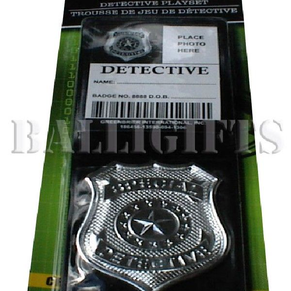 Pretend Play Detective Police Wallet Silver Badge ID | Balli Gifts