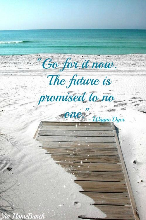 """""""Go for it now. Tomorrow is promised to no one"""". Quotes. Wayne Dyer Quotes. #Quotes #WayneDyer"""