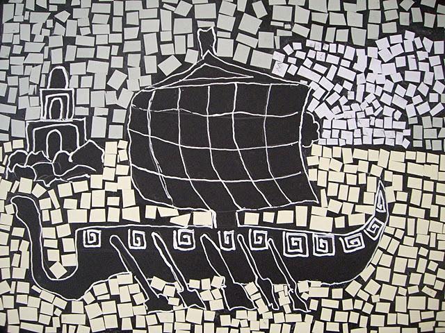 Ancient Roman Style Paper Mosaics http://www.pinterest.com/rosercasasbou/greece/