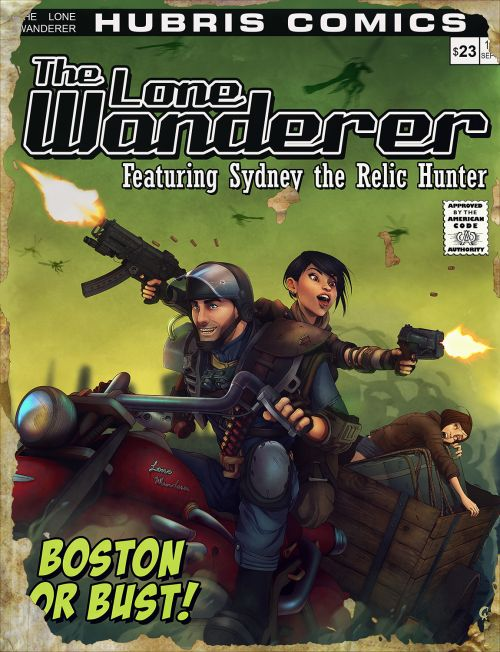 cameronaugust:  Special Issue of The Lone Wanderer!  Thanks to my fantastical partner @galoogamelady for the help putting the finishing touches on this! Also for support when I corrupted the first .psd. >_<<br/>  Wow this is some really cool cover. Sydney FTW!  fallout fallout 3 fallout magazines