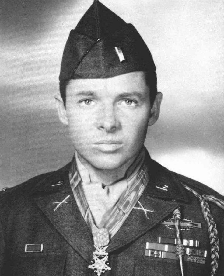 """Audie Murphy, 06/20/1924 – 05/28/1971. This guy is my number one hero. Standing at 5'5"""" and weighing 110 lbs, he was refused enlistment from the Marines, Navy, and Army Paratroopers for being too short and underweight. Finally the U.S. Army enlisted him in 1942 and he began boot camp. Murphy passed out during drill and his commander tried to transfer him to cook and bakers' school, but Murphy refused and persevered through basic and advanced infantry training. His combat initiation finally…"""