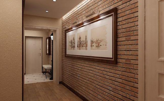 Фото: декор стены картинами