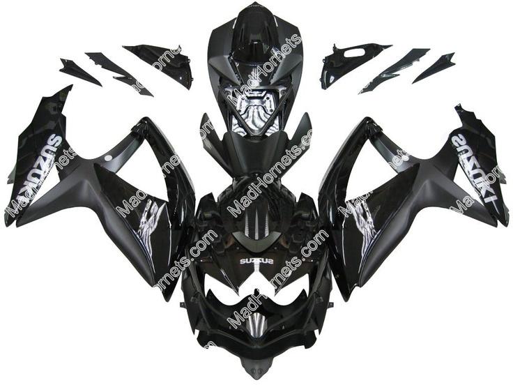 Mad Hornets - Fairings Suzuki GSXR 600 750 All Black Suzuki Racing  (2008-2009), $599.99 (http://www.madhornets.com/fairing-bodywork-for-suzuki-gsxr-600-750-all-black-suzuki-racing-2008-2009/)