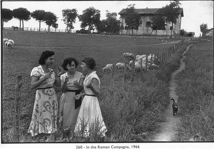 Italian Vintage Photographs ~ Agro Romano, Italy, 1966  Henri Cartier-Bresson