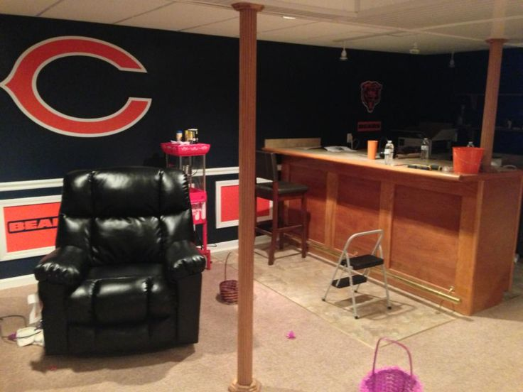 Man Cave Mini Brats : Best images about chicago bears room wo man caves on