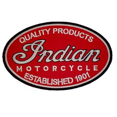 Indian Motorcycle Logo Classic Biker Back Patch