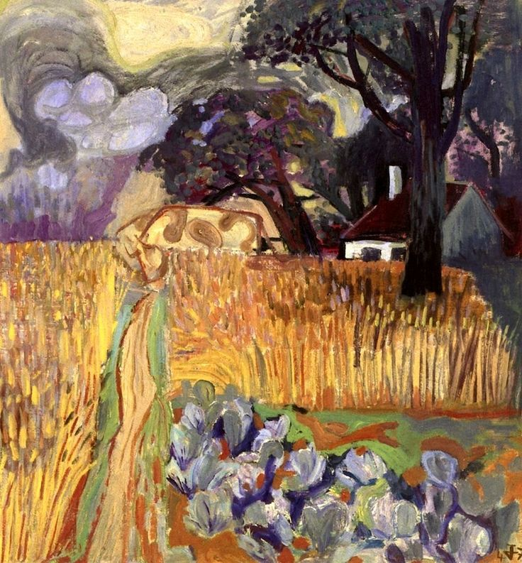 Landscape with Blue Cabbage Otto Dix - 1947