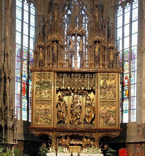 the largest wooden altar in the world - Altar of Master Paul in Levoča, Slovakia