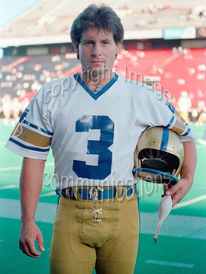 Trevor Kennerd Winnipeg Blue Bombers kicker 1983. Copyright photograph Scott Grant