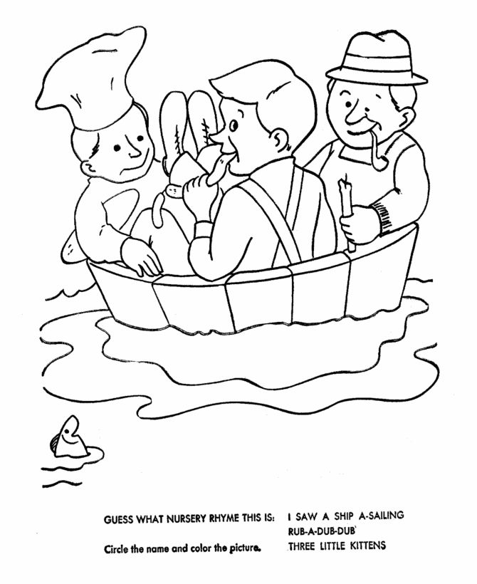 coloring pages nursey rhymes - photo#37