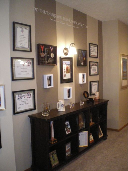 25 Best Ideas About Award Display On Pinterest Running