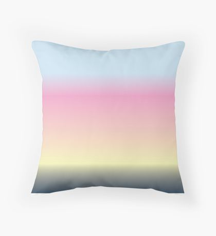 Blended Blue & Blue & Pink & Yellow Throw Pillow