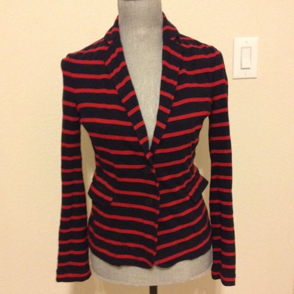 J Crew blazer NAUTICAL Blazer with adorable anchor buttons. 2 front pockets. Used but u. Good condition. J. Crew Jackets & Coats Blazers