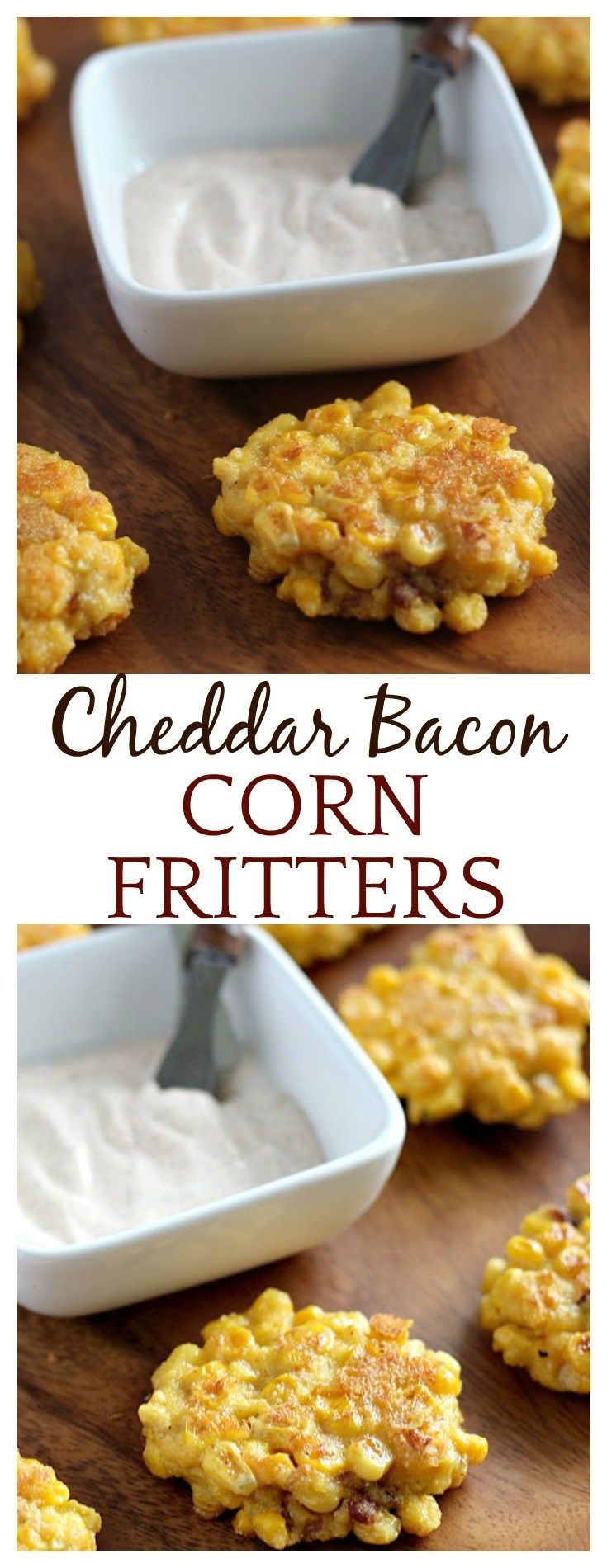 Summer is the perfect time of year to serve up these Cheddar Bacon Corn Fritters! They make switching up the same old, but still delicious corn-on-the cob a nice change. They are super easy to make and loaded with sweet and smokey flavors!