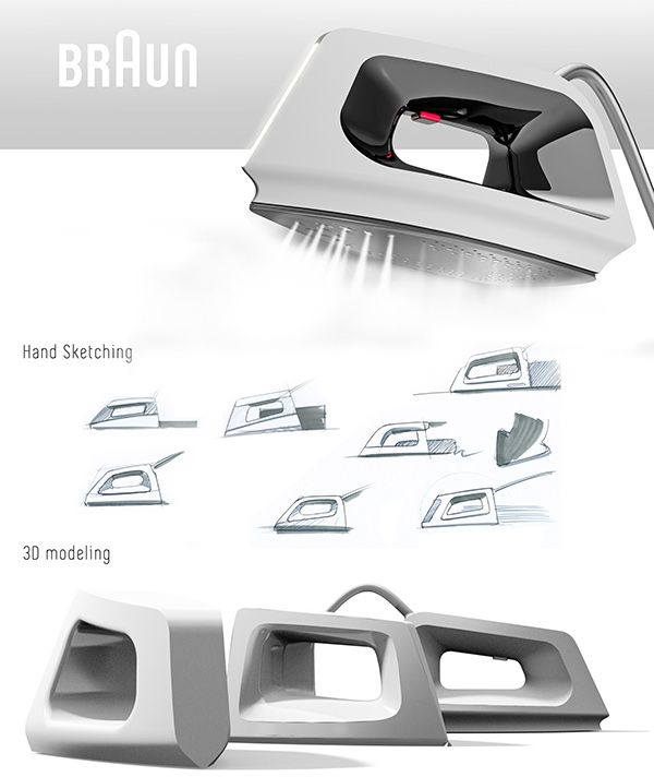 Braun steam iron on Behance