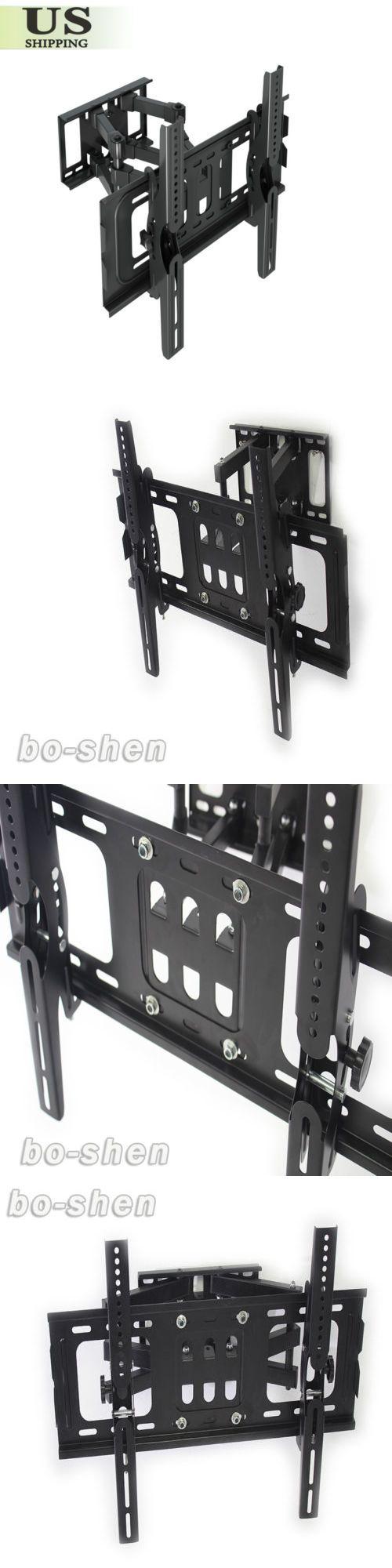 TV Mounts and Brackets: Dual Arm Tilt Swivel Articulating Lcd Led Plasma Tv Wall Mount Bracket 25 - 52 -> BUY IT NOW ONLY: $32.98 on eBay!