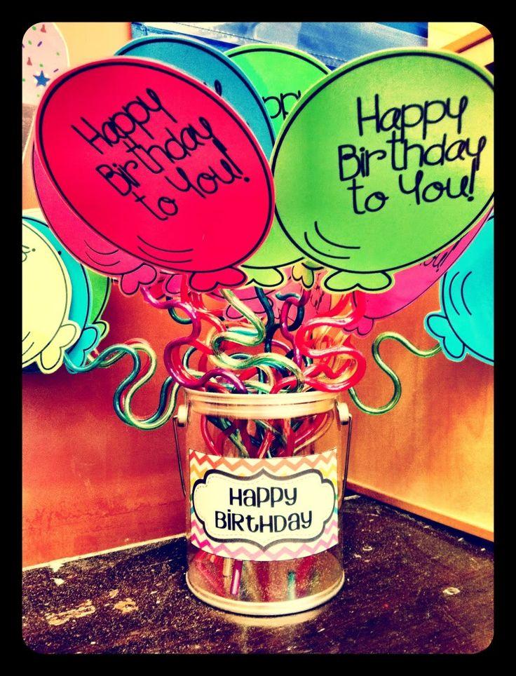 birthday crazy straws