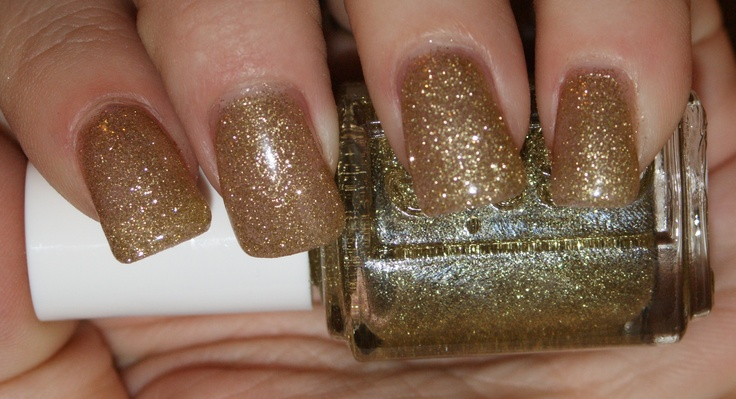 Essie LE Cosmo's PSS Shimmer: Cosmo S Pss, Le Cosmos, Gold Polish, Polish Swatch, Gold Glitter Nails, Pss Shimmer, Glitter Nails Polish, Cosmo Pss, Cosmos Pss