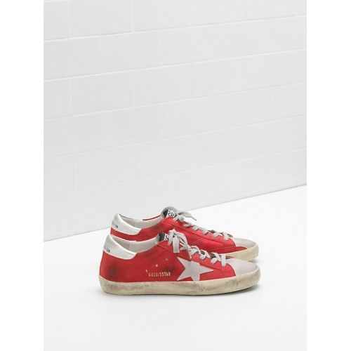 new product 68d49 14109 2018 Basket Golden Goose Superstar Femme GGDB sstar Sneakers Silver Red -  Golden Goose Women 2018