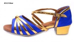 latin dance shoes professional #113 blue