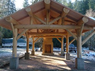 Log Picnic Shelter Plans Woodworking Projects Amp Plans