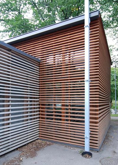 wood siding - clean mitered corners
