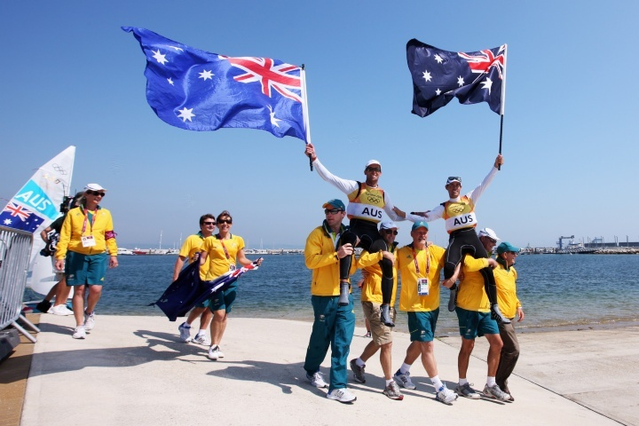 Malcolm Page and Mathew Belcher take GOLD! Well done boys!!! http://london2012.olympics.com.au/news/belcher-and-page-take-gold