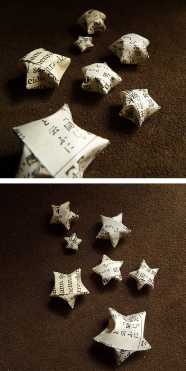 Origami Stars I love making these