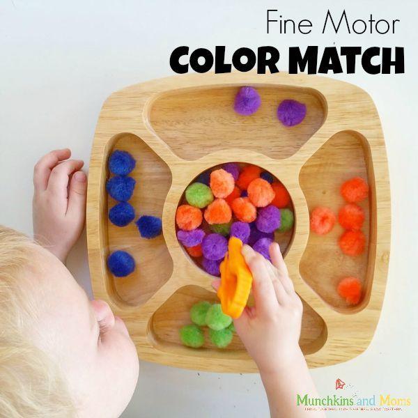 Fine Motor Color Sorting Activity Activities Preschool