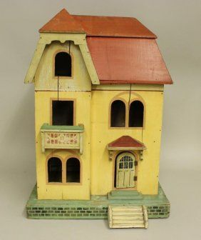 1920u0027s 1930u0027s PAINTED WOODEN DOLL HOUSE, SOME : Lot 3481. Nice Simple Style.  Vintage ...
