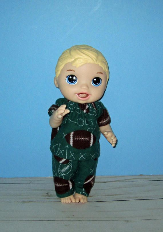 Snackin Luke Baby Alive Doll Clothes Fooball Pajamas
