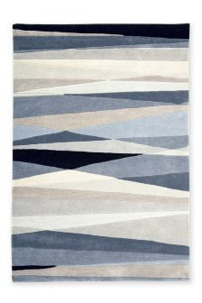 Chambray Wool Abstract Stripe Rug (994162) | £95 - £250