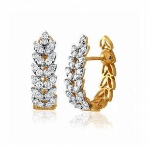 Marquise shaped diamond bali