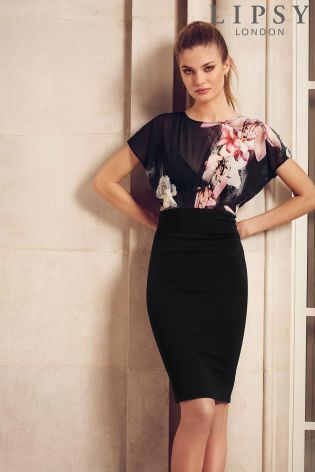 Buy Lipsy Floral Print Sheer Top Dress from the Next UK online shop