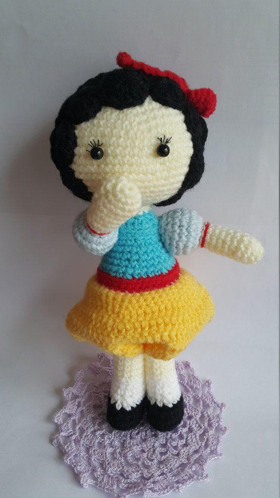 Snow White Crochet Doll Crochet Disney Character by FatMiaoZakka
