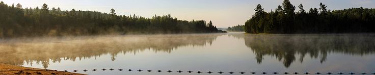 Just imagine if you could wake up here… Misty sunrise on Kearney Lake is another delight from Algonquin Park, Ontario, Canada (Untitled_Panorama z Algonqin 5 sat 35). After a cool night, you do not appreciate getting out of your tent at all, but this morning was complemented with beautiful mist rising over the body of water, and fabulous sunrise. The colours, especially yellows, started to develop very quickly. Enjoy it! © all rights reserved by Mala Gosia. Please do not use this image on…