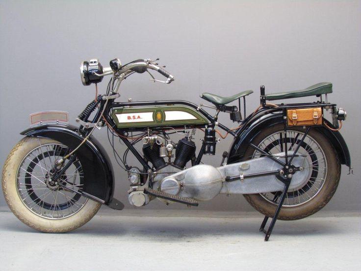 BSA 1922 Model A 770cc vintage british motorcycle
